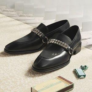 giuseppe zanotti NIB black leather loafer